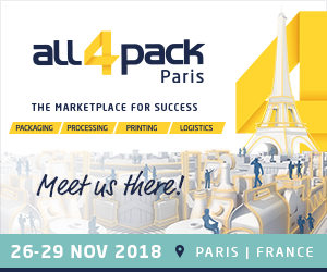 All4Pack 2018 | 26-29 Marraskuuta | Pariisi, Ranska